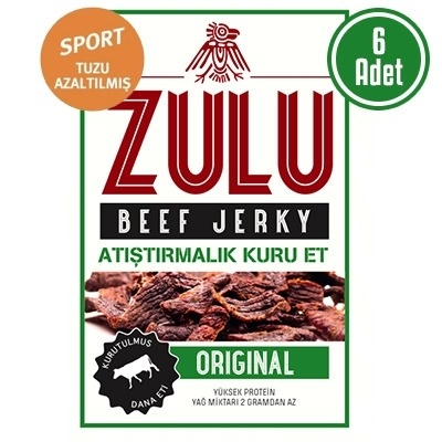 Zulu Beef Jerky Sports (Original Az Tuzlu) 6 Adet