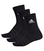 Adidas Light Crew 3'lü Çorap Siyah