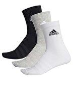 Adidas Light Crew 3'lü Çorap Çok Renkli