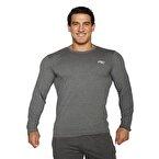MuscleCloth Basic Uzun Kollu T-Shirt Gri
