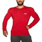 MuscleCloth Basic Uzun Kollu T-Shirt Kırmızı