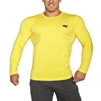 MuscleCloth Basic Uzun Kollu T-Shirt Sarı