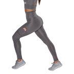 MuscleCloth Elise Cepli Spor Tayt Gri