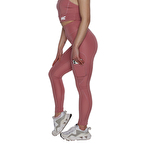 MuscleCloth Elise Cepli Spor Tayt Pembe