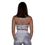 MuscleCloth Elise Sporcu Sütyeni Beyaz Kamuflaj