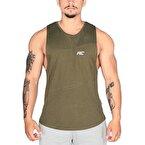 MuscleCloth Elite Kolsuz T-Shirt Haki