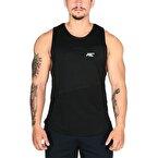 MuscleCloth Elite Kolsuz T-Shirt Siyah