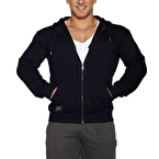 MuscleCloth Kapüşonlu Fermuarlı Sweatshirt Lacivert