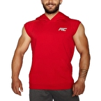 MuscleCloth Kapüşonlu Kolsuz Yelek Kırmızı