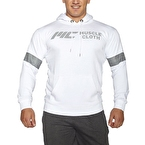 MuscleCloth Kapüşonlu Sweatshirt Beyaz
