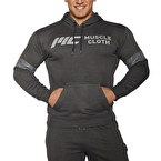 MuscleCloth Kapüşonlu Sweatshirt Gri