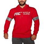 MuscleCloth Kapüşonlu Sweatshirt Kırmızı
