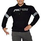 MuscleCloth Kapüşonlu Sweatshirt Siyah