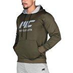 MuscleCloth Pro Kapüşonlu Sweatshirt Haki