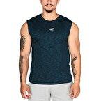 MuscleCloth Pro Kolsuz T-Shirt Mavi