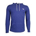 MuscleCloth Training Kapüşonlu Uzun Kollu T-Shirt İndigo Mavi
