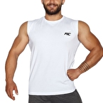 MuscleCloth Training Kolsuz T-Shirt Beyaz