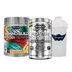 Muscletech Platinum Glutamin 302 Gr + Amino Build 296 Gr Kombinasyonu