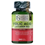 Nature's Supreme Folic Acid 400 Mcg 180 Kapsül