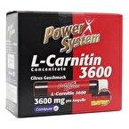 Power System L-Carnitine 3600 Mg 10 Ampül