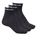 Reebok Active Core Ankle 3'lü Çorap Siyah