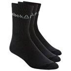 Reebok Active Core Crew Çorap 3'lü Paket - Siyah