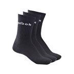Reebok Active Core Crew Çorap 3'lü Paket Siyah