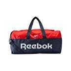 Reebok Active Core Grip Duffel Bag Medium Spor Çantası Lacivert Kırmızı