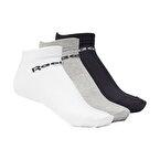 Reebok Active Core Low Cut Çorap 3'lü Paket Siyah Gri Beyaz