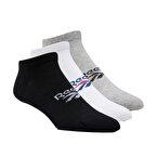 Reebok Classics Foundation Low Cut Socks 3Lü Çorap Siyah-Beyaz-Gri