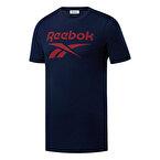 Reebok Rı Big Logo Kısa Kollu T-Shirt Mavi