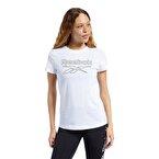 Reebok Training Essentials Graphic Tee T-Shirt Beyaz