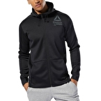 Reebok Training Spacer Full-zip Hoodie - Siyah