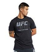 Reebok Ufc Fg Logo T-Shirt Siyah