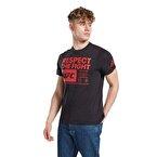 Reebok Ufc Fg Text Tee T-Shirt Siyah