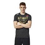 Reebok Ufc Fight Night Walkout Jersey T-Shirt Siyah
