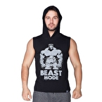 Supplementler.Com Beast Mode Hlk Kapüşonlu Kolsuz T-Shirt Siyah