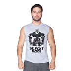 Supplementler.com Beast Mode Hlk Kolsuz T-Shirt Gri