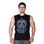 Supplementler.com Beast Mode Hlk Kolsuz T-Shirt Siyah