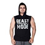 Supplementler.com Beast Mode Kapüşonlu Kolsuz T-Shirt Siyah