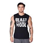 Supplementler.com Beast Mode Kolsuz T-Shirt Siyah