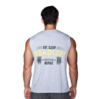 Supplementler.Com Deadlift Kolsuz T-Shirt Gri