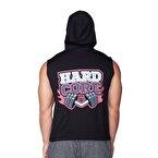 Supplementler.com Hardcore Kapüşonlu Kolsuz T-Shirt Siyah