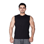 Supplementler.com Kolsuz T-Shirt Siyah