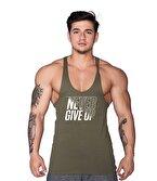 Supplementler Never Give Up Fitness Atleti Yeşil