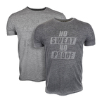 Supplementler No Sweat No Proof T-Shirt Gri Melanj