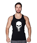 Supplementler Skull Tanktop Siyah