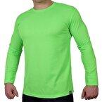 Supplementler.Com Uzun Kollu Antrenman T-Shirt Yeşil Neon