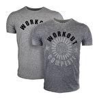 Supplementler Workout Complete T-Shirt Gri Melanj