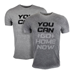 Supplementler You Can Go Home Now T-Shirt Gri Melanj